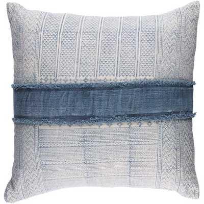 "Mara Pillow Cover, 30""x 30"", Navy - Cove Goods"