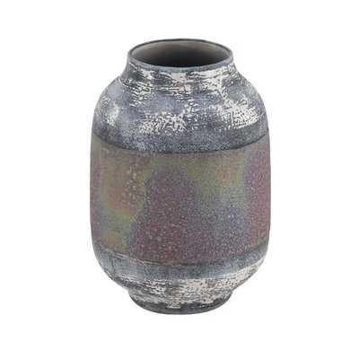 Haydel Eclectic Distressed Stoneware Table Vase - Wayfair