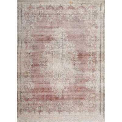 Argonaut Traditional Gray/Light pink Area Rug - Wayfair