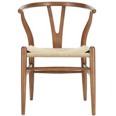 Amish Walnut (Brown) Dining Wood Armchair - Home Depot