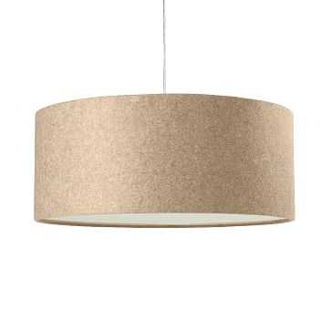 Short Drum Pendant, Natural Linen - West Elm