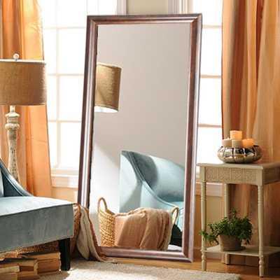 Brandtworks Classic Rectangle Wood Grain Floor Mirror - Home Depot