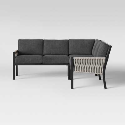 Lunding Patio Sectional Charcoal - Project 62 - Target