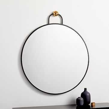 Geometric Hook Wall Mirror, Large - West Elm