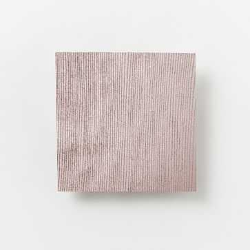 Upholstery Fabric By The Yard, Luster Velvet, Dusty Blush - West Elm