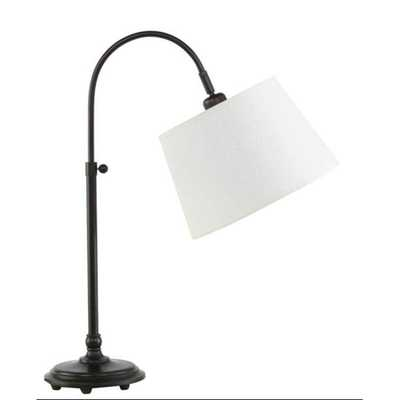 Fangio Lighting 21 in. to 28 in. Adjustable Metal Arch Table Lamp - Home Depot
