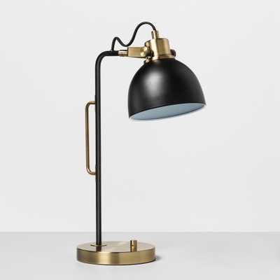 Desk Lamp Black / Brass (Black/Brass) - Hearth & Hand with Magnolia - Target