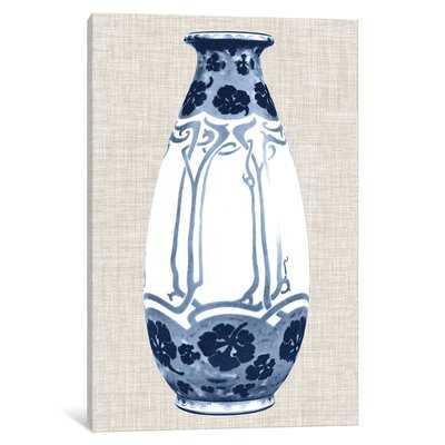 'Blue & White Vase II' Graphic Art Print on Canvas - Wayfair