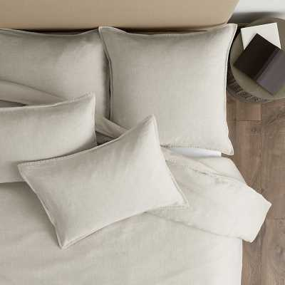 Ballard Designs Brooke Washed Linen Duvet Cover Natural Full/Queen - Ballard Designs