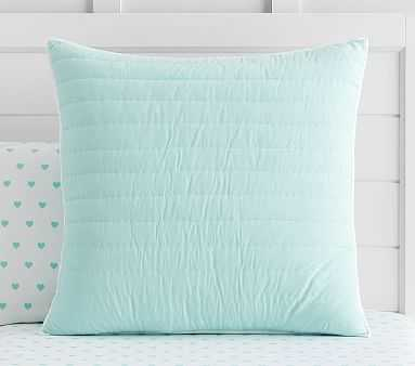 Pretty Branson Euro Sham, Pale Aqua - Pottery Barn Kids