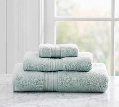 Hydrocotton Quick-Drying Bath Towel, Porcelain Blue - Pottery Barn
