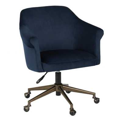 Blue Velvet Declan Upholstered Office Chair by World Market - World Market/Cost Plus