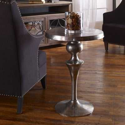 Darren Aluminum End Table - Wayfair