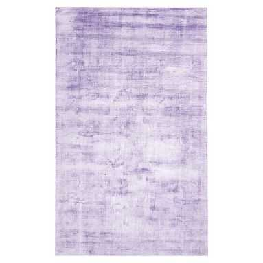 Solid Viscose Rug, 5'x8', Lavender Hush - Pottery Barn Teen