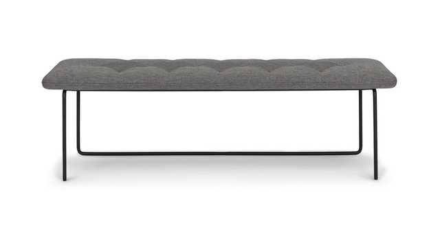 Level Bench- Gravel Gray - Article
