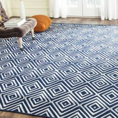 Mata Kilim Navy Area Rug- Rectangle 8' x 10' - Wayfair