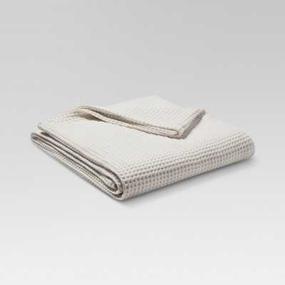 Waffle Weave Blanket (Full/Queen) Natural White - Threshold - Target