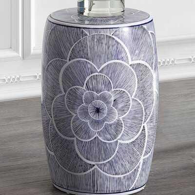 Epps Camellia Ceramic Drum Garden Stool - Wayfair