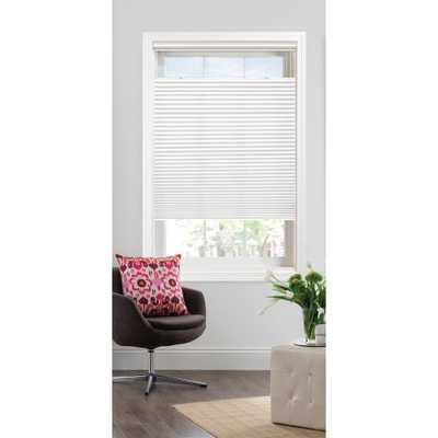 Bali Cut-to-Size White Light Filtering Cordless Fabric 3/8 in. Single Cell Top-Down Bottom-Up Cellular Shade - 40 in. W x 72 in. L - Home Depot