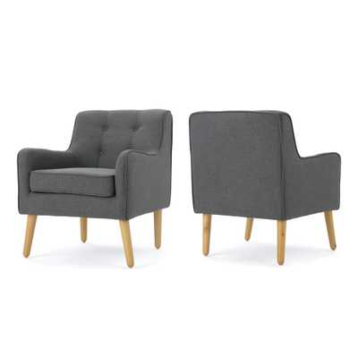 Set of 2 Felicity Mid Century Arm Chair Charcoal (Grey) - Christopher Knight Home - Target