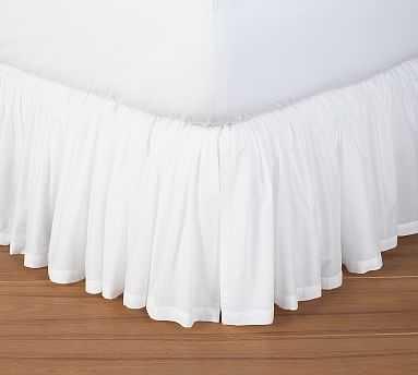 Voile Bed Skirt, King, White - Pottery Barn