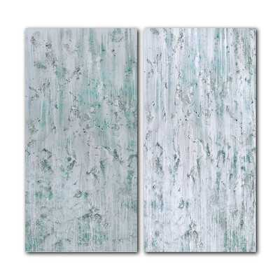 Oversized 'Abstract' 2 Piece Graphic Art on Canvas Set - Birch Lane