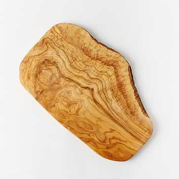 Olive Wood Rustic Cutting Board, Large - West Elm
