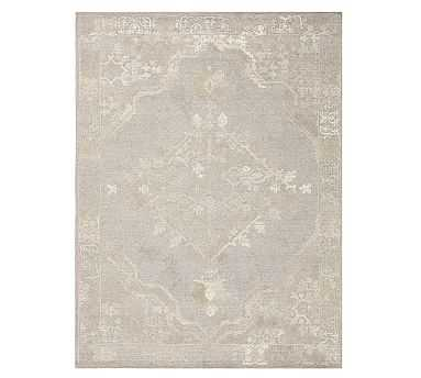 Kenley Tufted Rug, 9 x 12', Gray - Pottery Barn