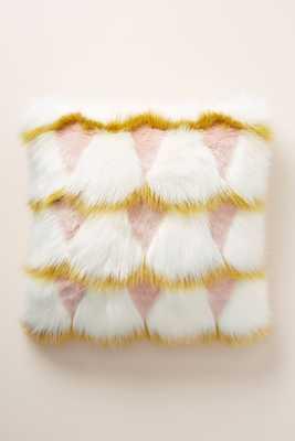 Coren Faux Fur Pillow - Anthropologie