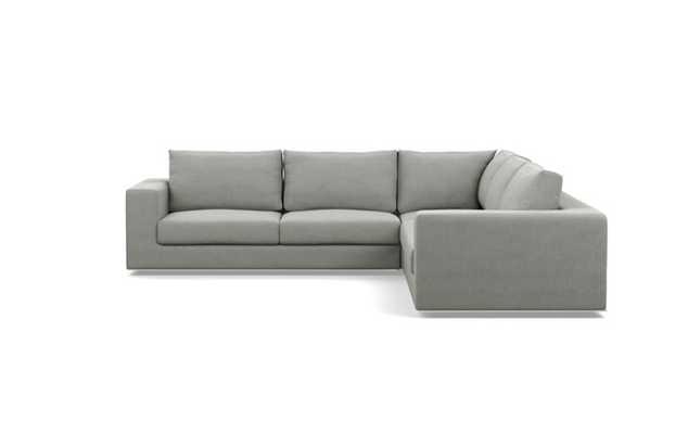 Walters Corner Sectional with Grey Ecru Fabric - Interior Define