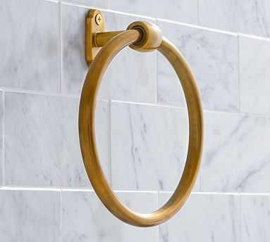 Covington Towel Ring, Brass Finish - Pottery Barn