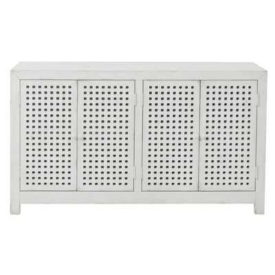 Isherwood Four Door Pierced Grid Sideboard - Birch Lane