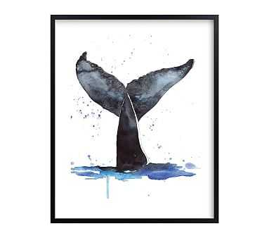 Whale Tale Wall Art by Minted(R), Black, 16x20 - Pottery Barn Kids