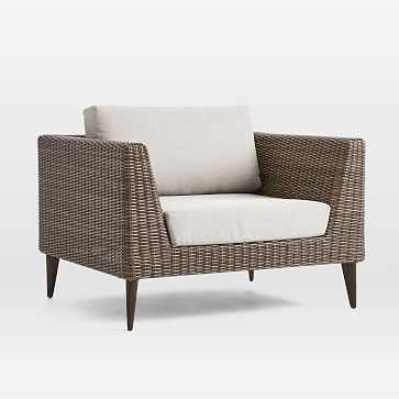 Marina Outdoor Lounge Chair, Weathered Cafe - West Elm