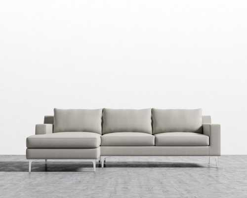 Sophia Sectional - Oyster Right-hand-facing Matte Black - Sophia - Rove Concepts