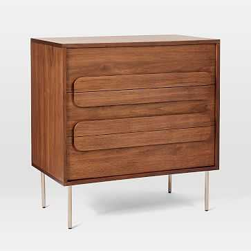 Gemini 3-Drawer Dresser, Walnut - West Elm