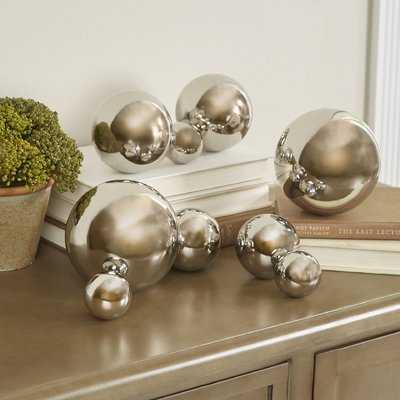 9 Piece Iron Decorative Ball Sculpture Set - Wayfair