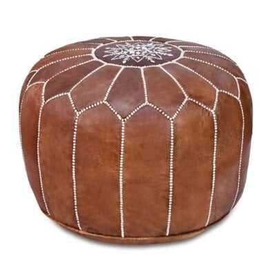 Spada Moroccan Leather Pouf - Wayfair