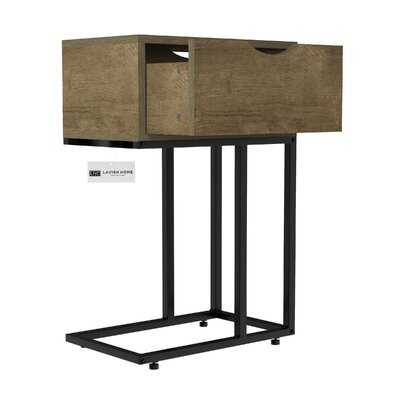 Roiguez C Shape Side Table With Drawer - Wayfair