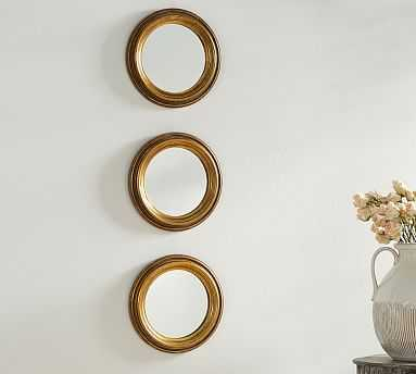 Round Gold Gilt Mirrors, Set of 3 - Pottery Barn