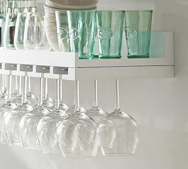 Holman Entertaining Shelf, Wineglass, Modern White - Pottery Barn