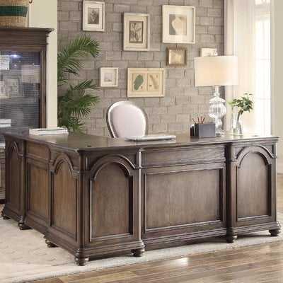 Mellette Wood L-Shape Executive Desk - Wayfair
