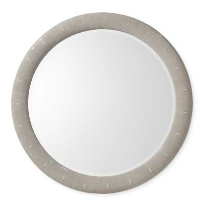 "Rhodes Grey Faux Shagreen Mirror, 48"" - Williams Sonoma"