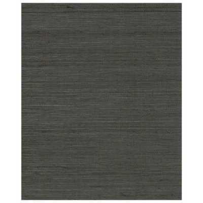72 sq. ft. Multi Grass Wallpaper, Gray/Black - Home Depot