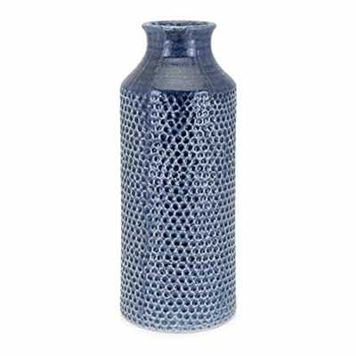 IMAX Skye Blue Large Vase - Home Depot