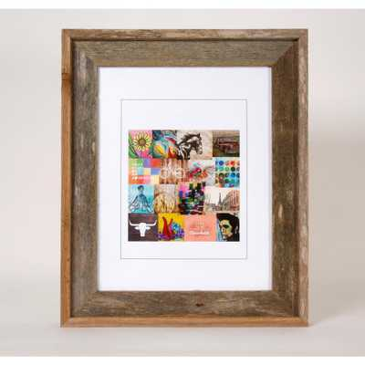Creative Gallery 11 in. x 14 in. Rustic Reclaimed Barnwood Picture Frame, Natural Wood - Home Depot
