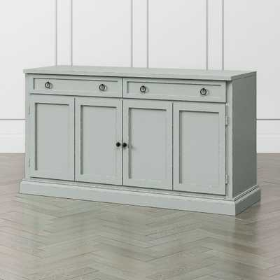 "Cameo 62"" Blue Grey Modular Media Console - Crate and Barrel"