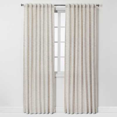 "84""x54"" Striation Herringbone Light Filtering Window Curtain Panel Cream/Blue (Ivory/Blue) - Project 62 - Target"