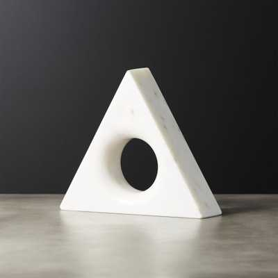 Trifecta Marble Triangle - CB2