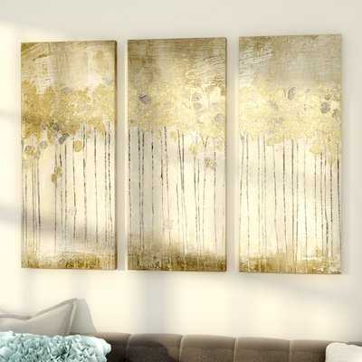 Sandy Forest - 3 Piece Wrapped Canvas Print Set - AllModern